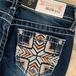 NWT Little Girls Grace In LA boot cut jeans Sz 10